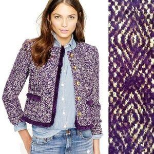 J. Crew Lady Jacket Wool Blazer Corkscrew Tweed